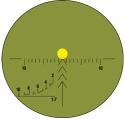Прицеливание по инфрокрасному прожектору (включен люминисцентный экран) с прицелом 4 на все дальности до 400м.